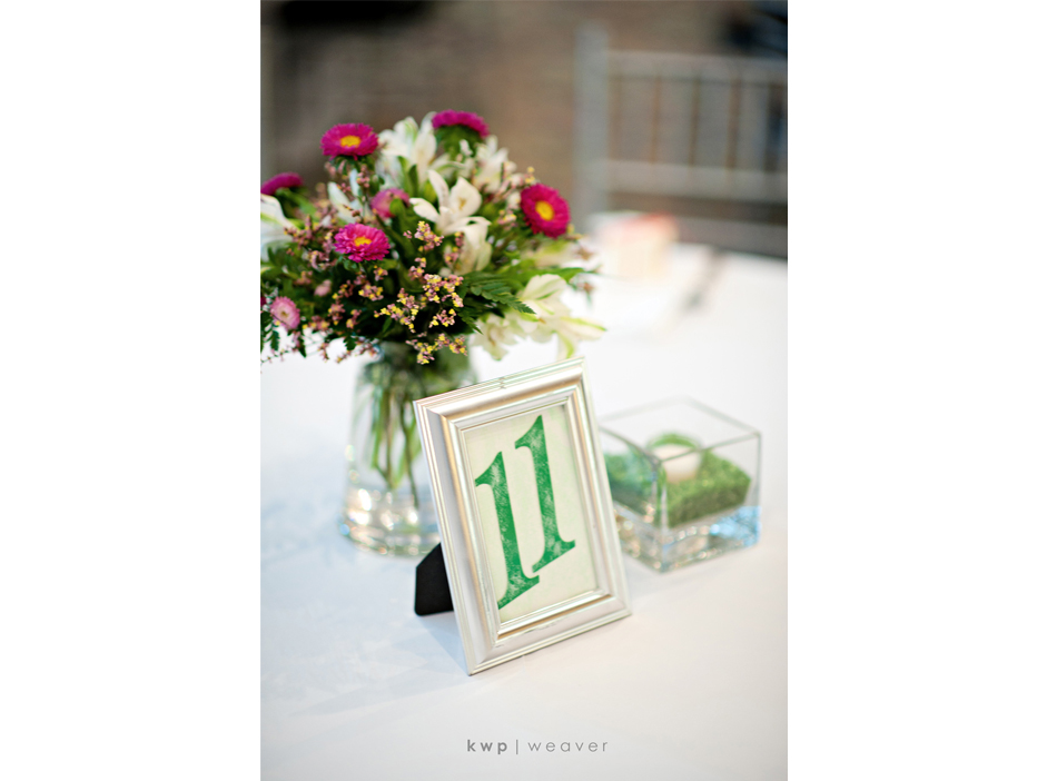 reception table cards