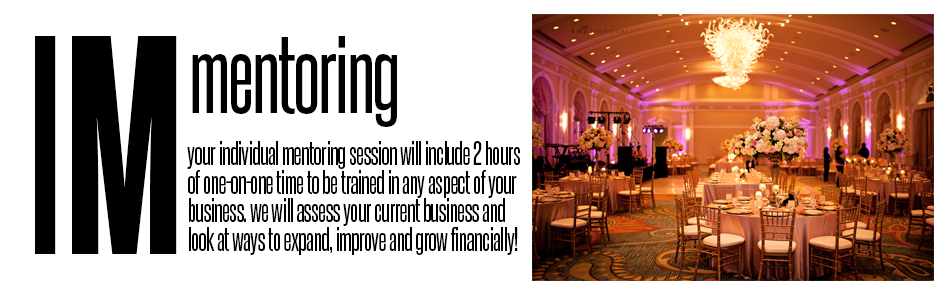 Individual Mentoring: your individual mentoring session will include 2 hours of one-on-one time to be trained in any aspect of your business. We will assess your current business and look at ways to expand, improve and grow financially!
