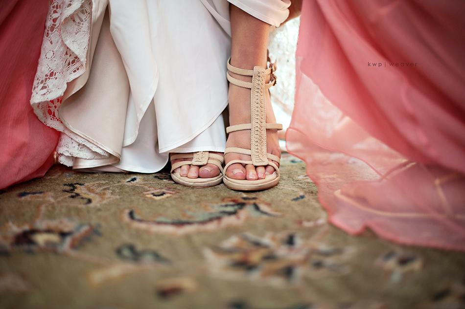 Nude wedding heels
