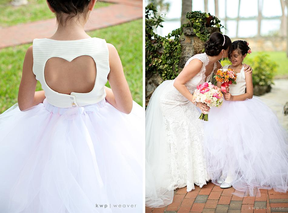 Flower girl ball gown dress