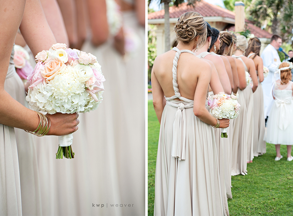 tan bridesmaid dress