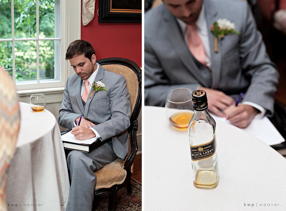 grooms note
