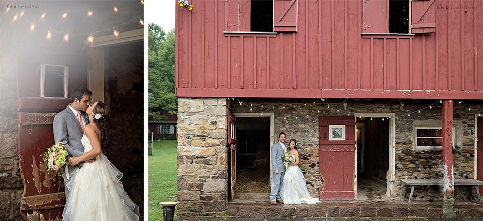 red barn wedding decor