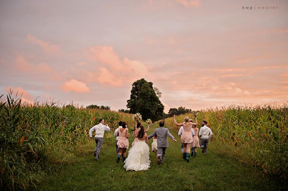 farm field wedding