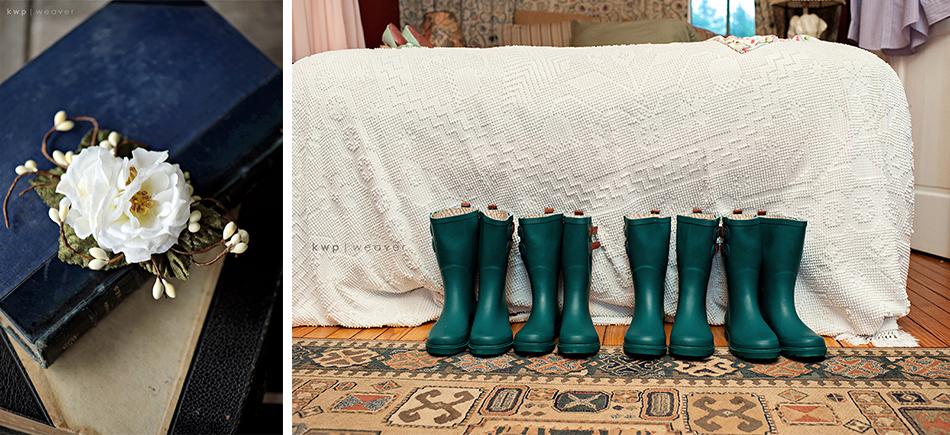 rain boots wedding