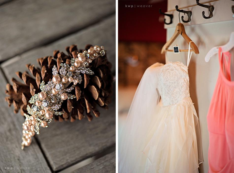 wedding broch hair