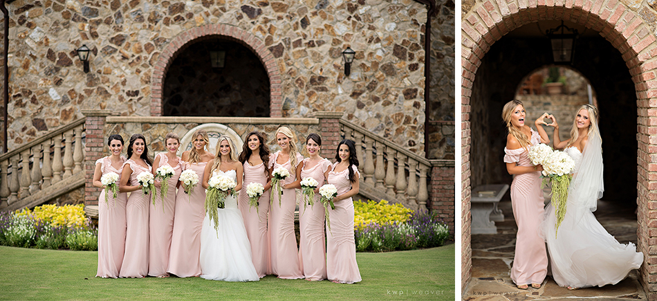 light pink bridesmaid dress