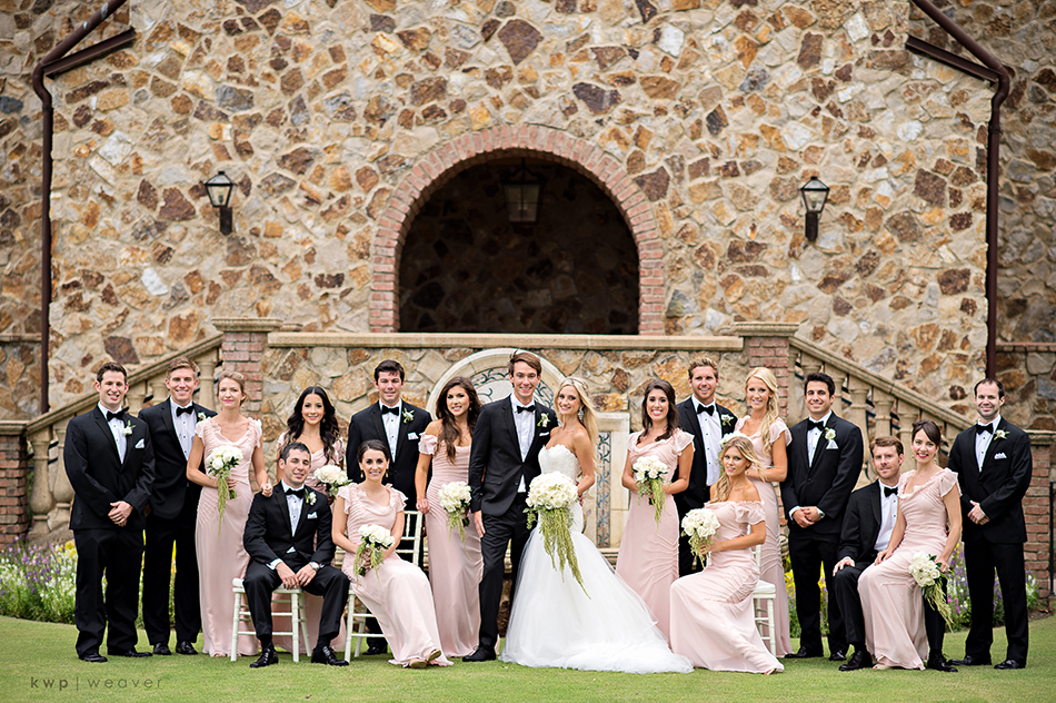 bridesmaids and groomsmen colors