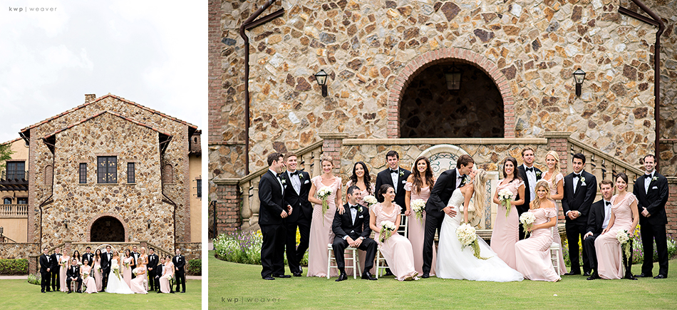 Bella collina wedding colors