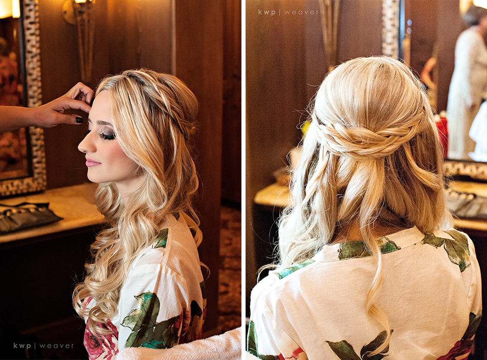 wedding day hair style