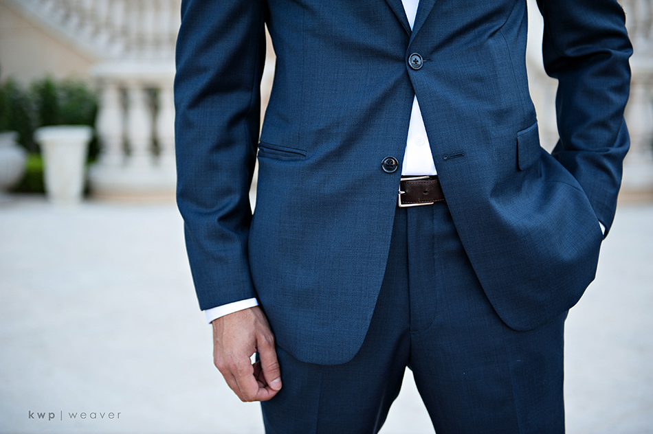 blue groomsman suit