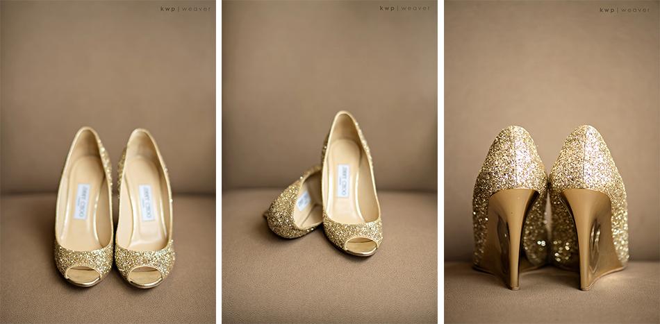jimmy choo gold glitter wedges