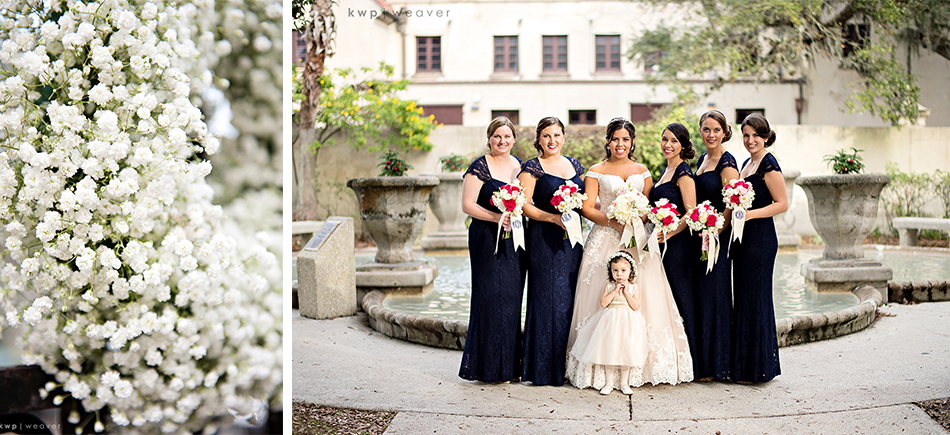 bridal portraits with bridesmaids