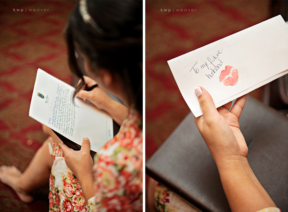 wedding letter from bride to groom
