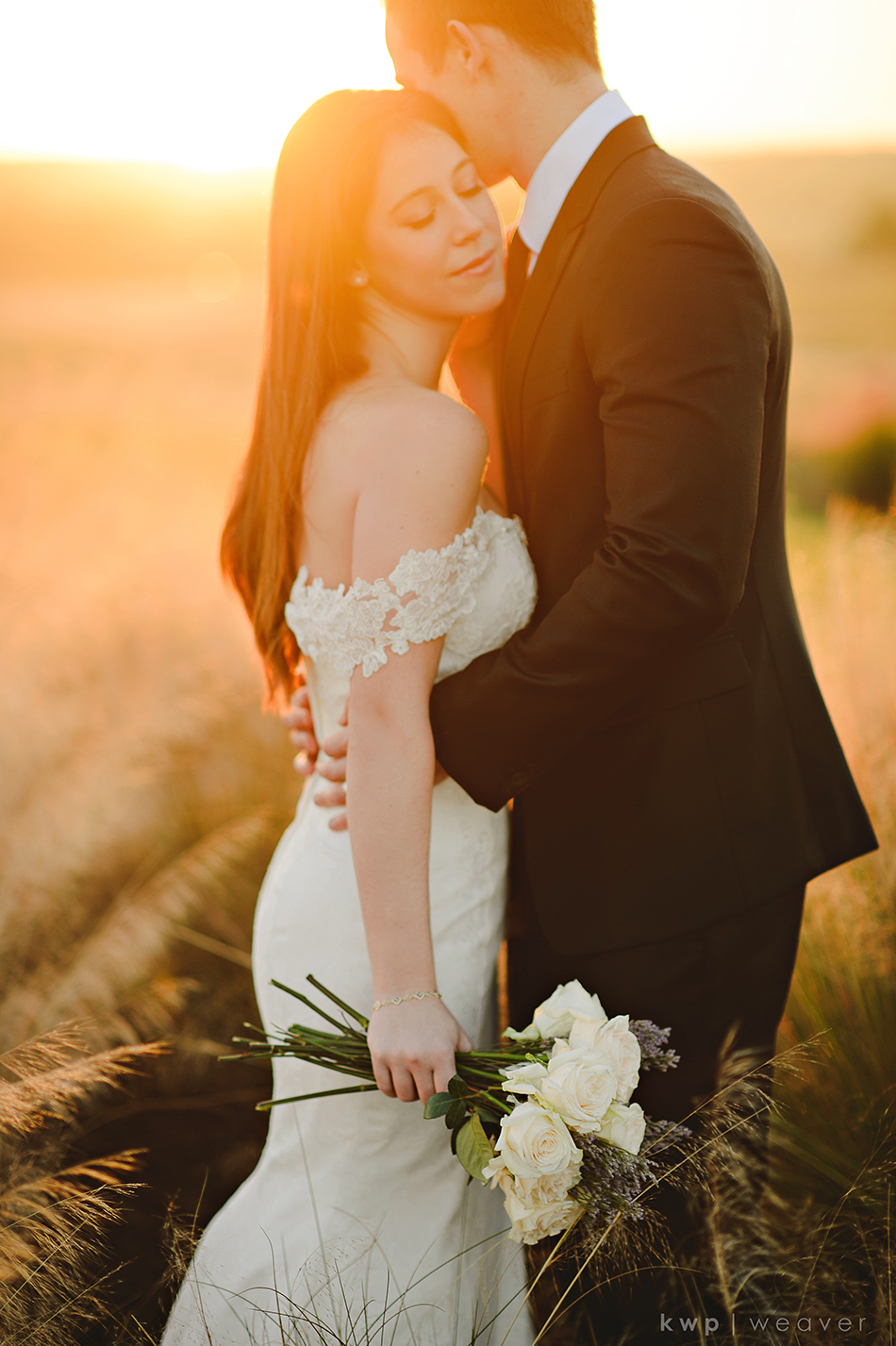 Bridal sunset portrait at Bella Collina