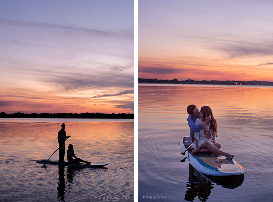 Paddle board engagement