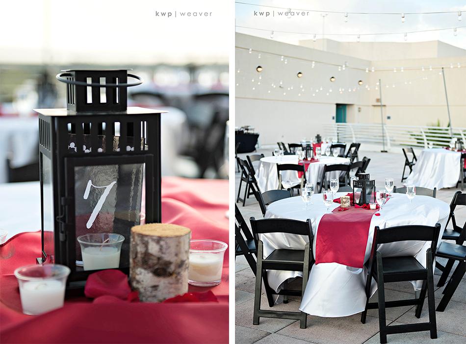 orlando science center wedding  reception decor