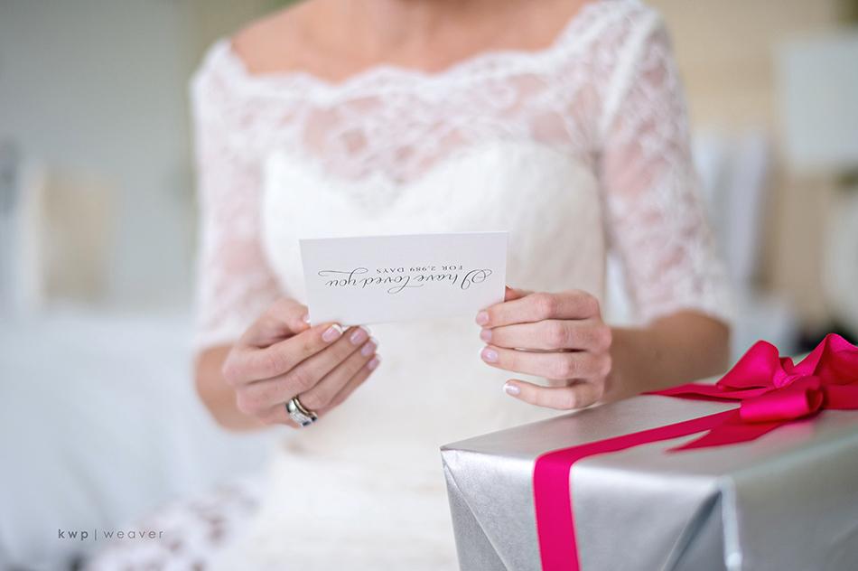 love letter from groom