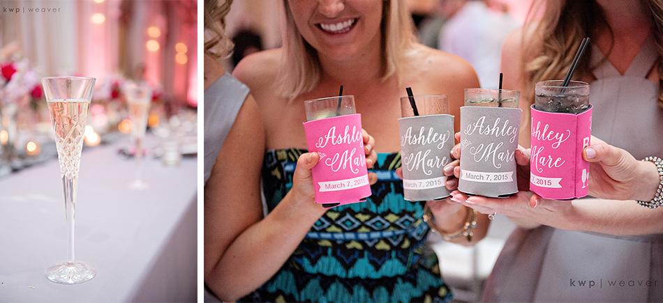 personalized wedding koozies