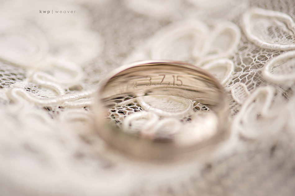 grooms wedding band engraved with wedding date