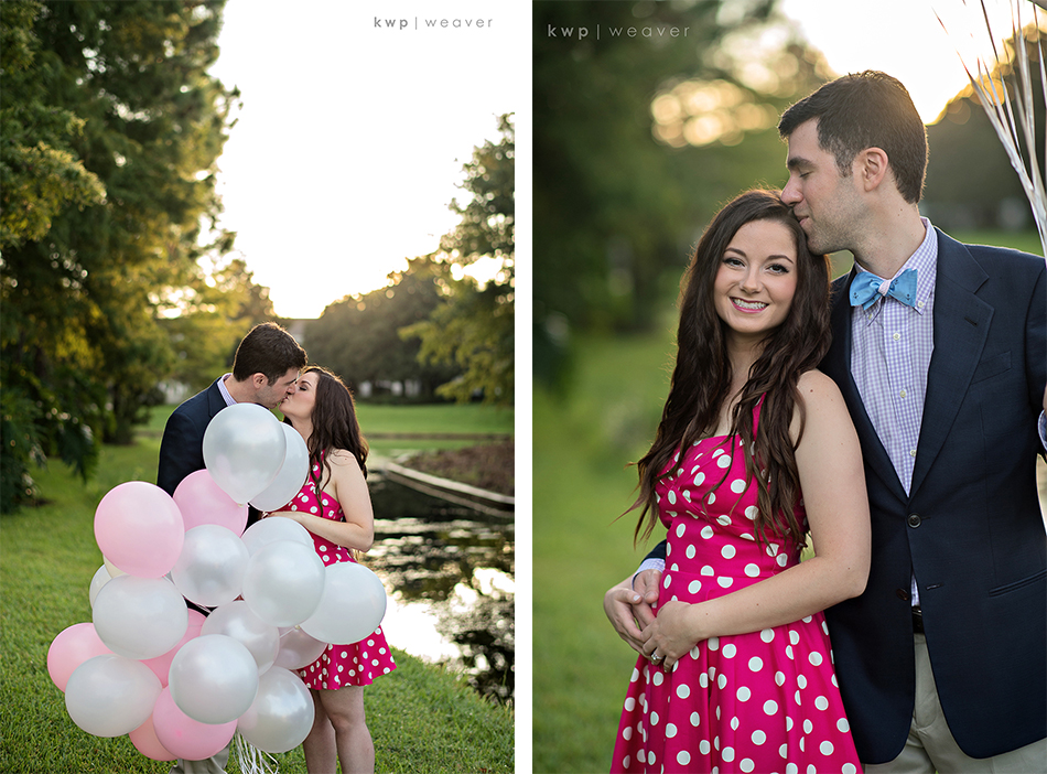 balloon engagement session
