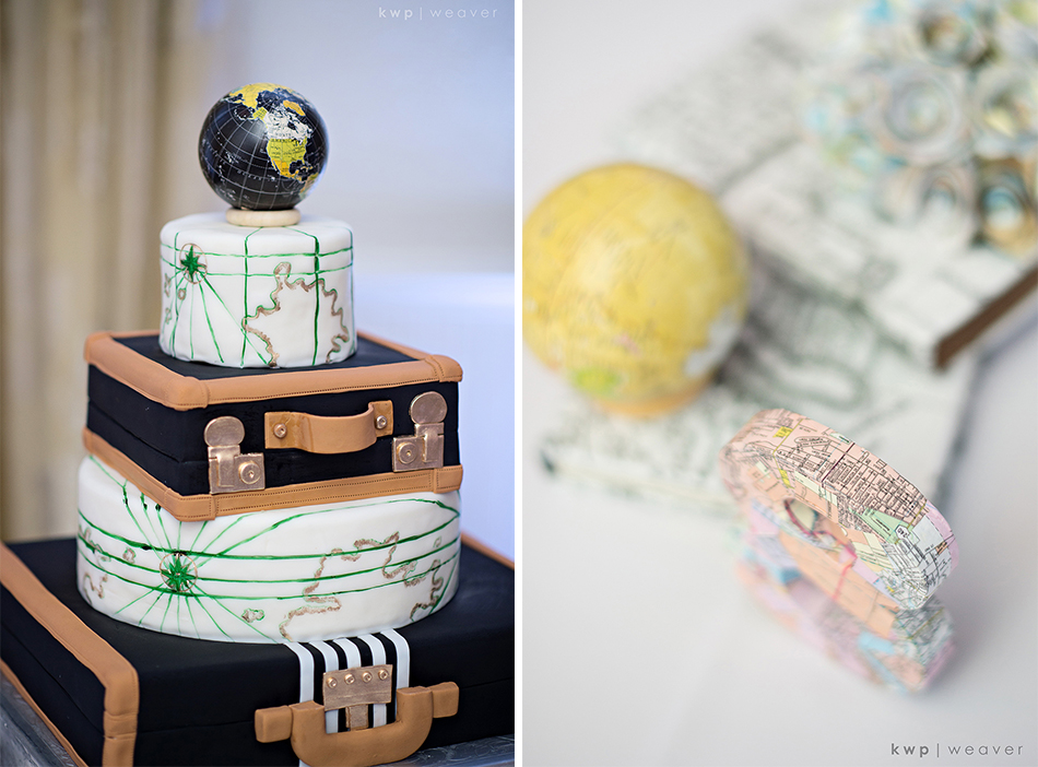 map theme wedding