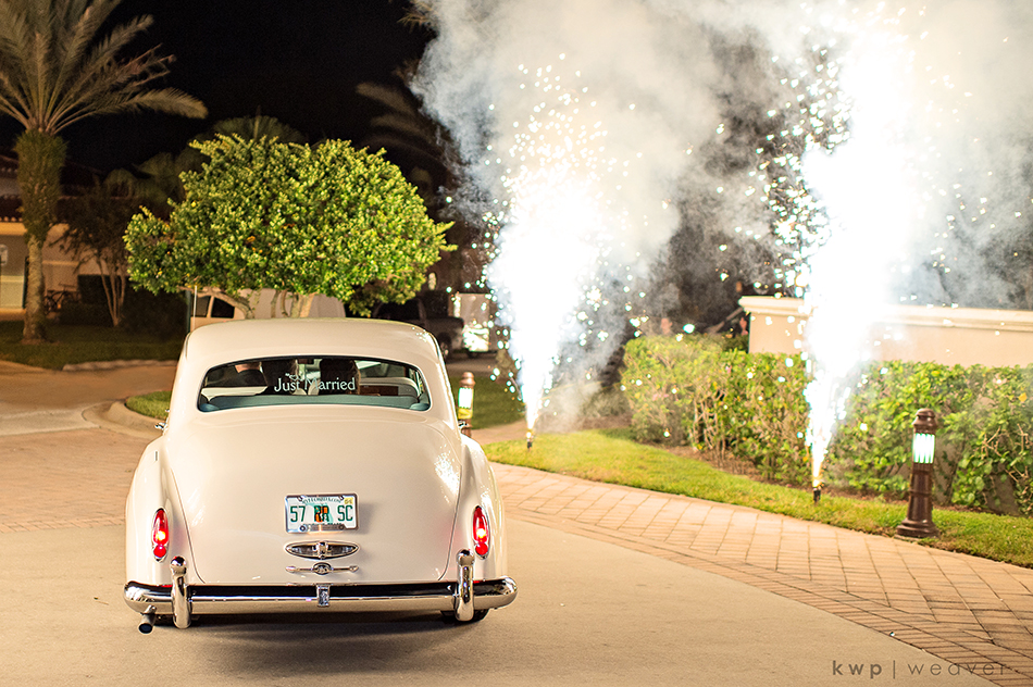 firework wedding exit