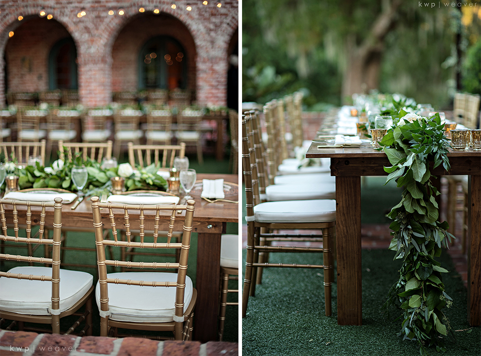 greenery tablescape
