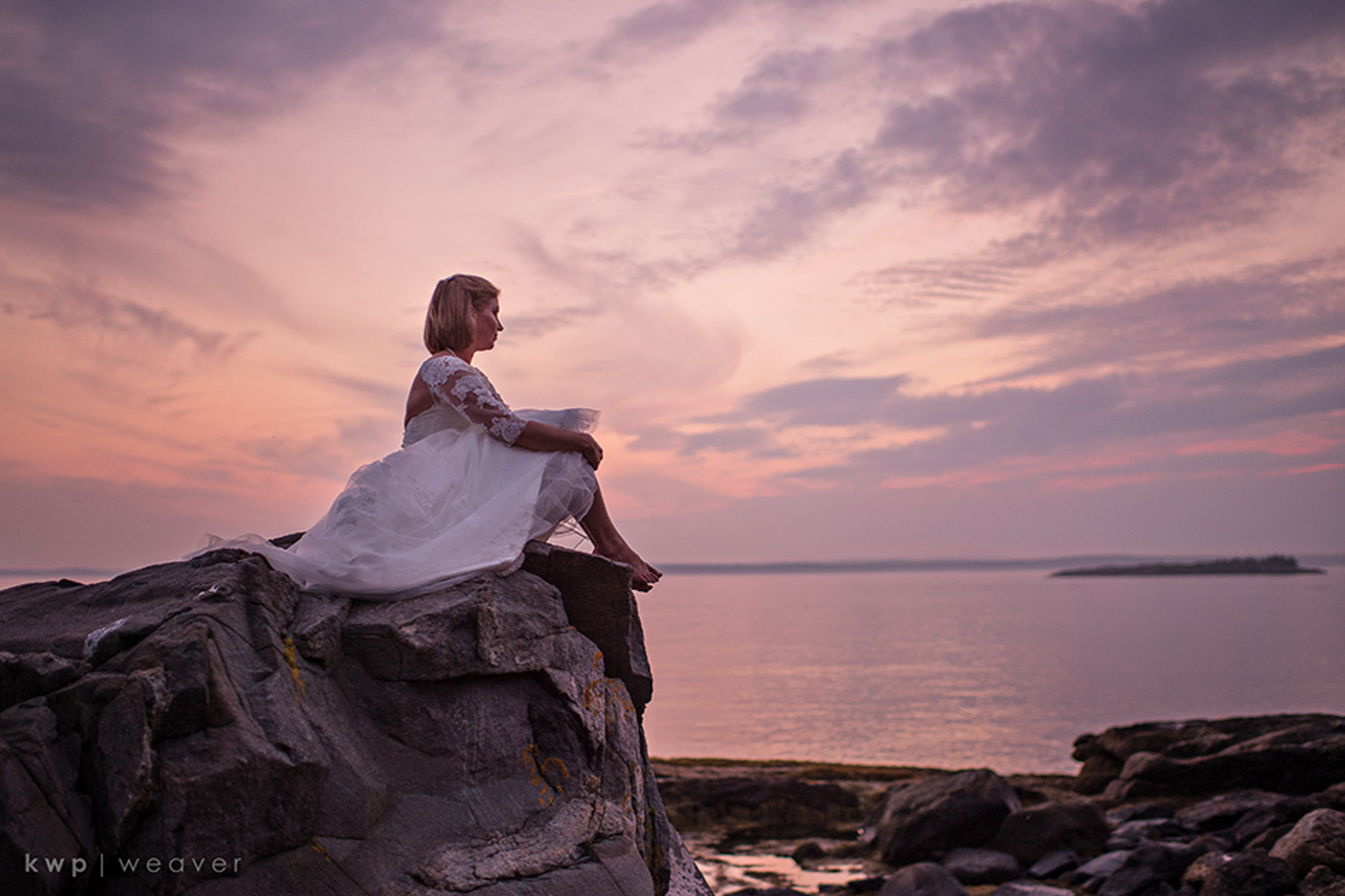 sunset bridal portrait