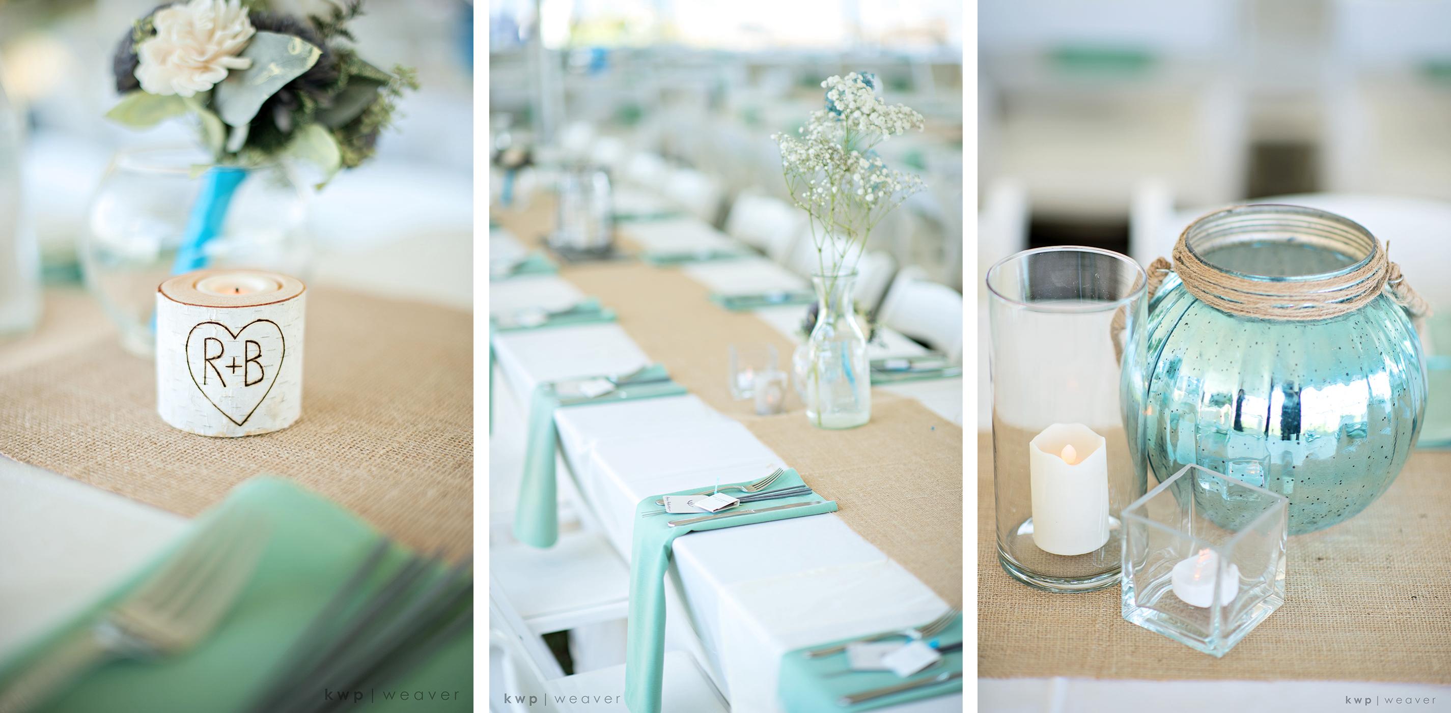 natural wedding details