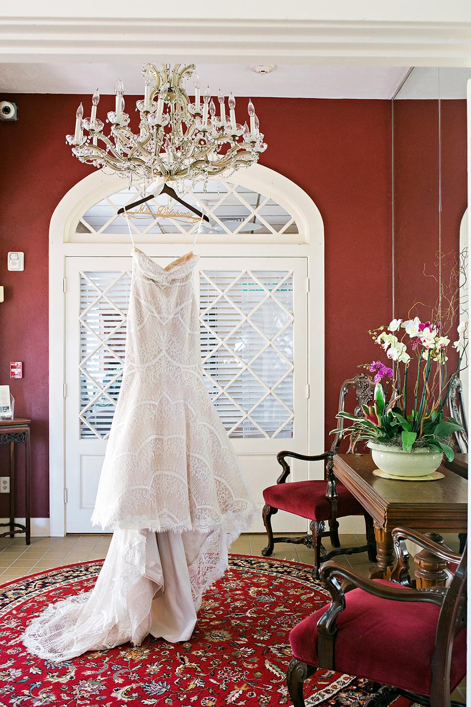 modern wedding gown