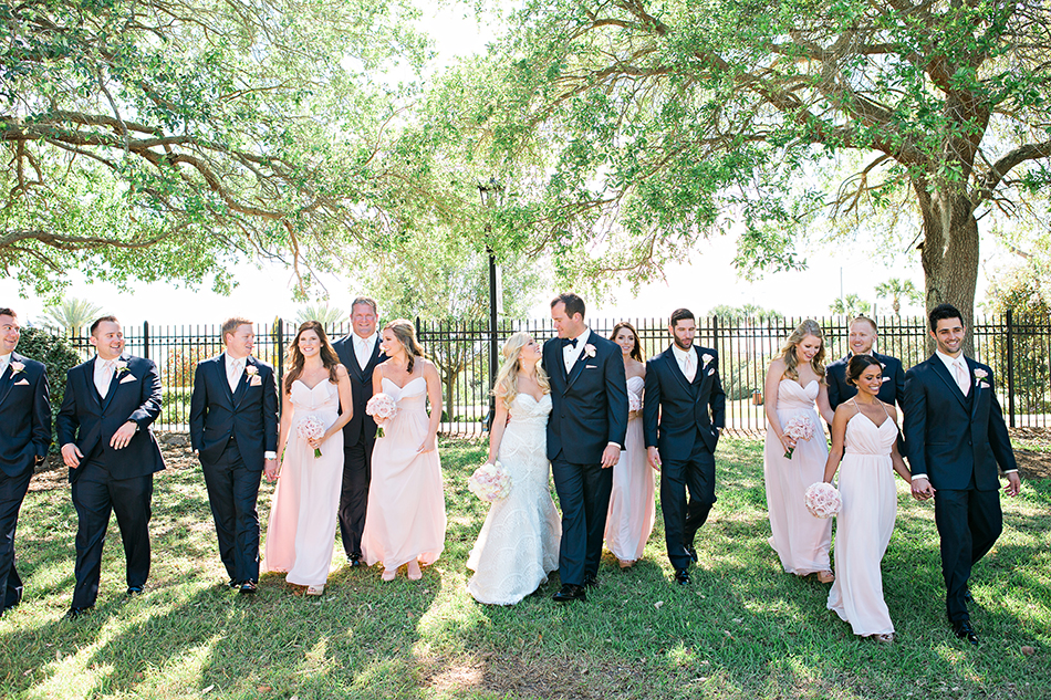 wedding party pink