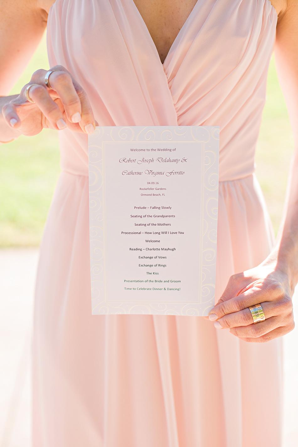 wedding ceremony stationery