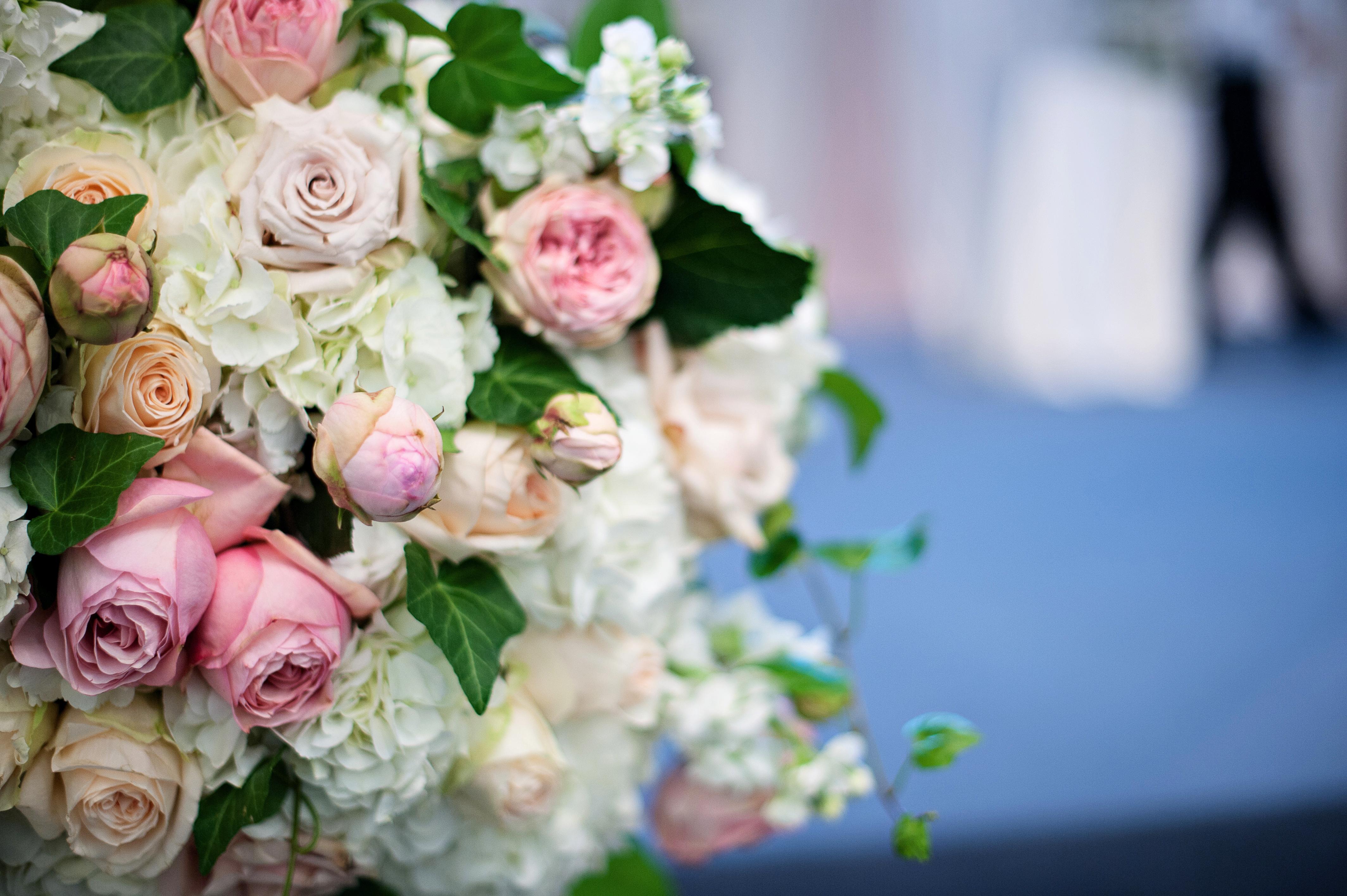 pink wedding floral