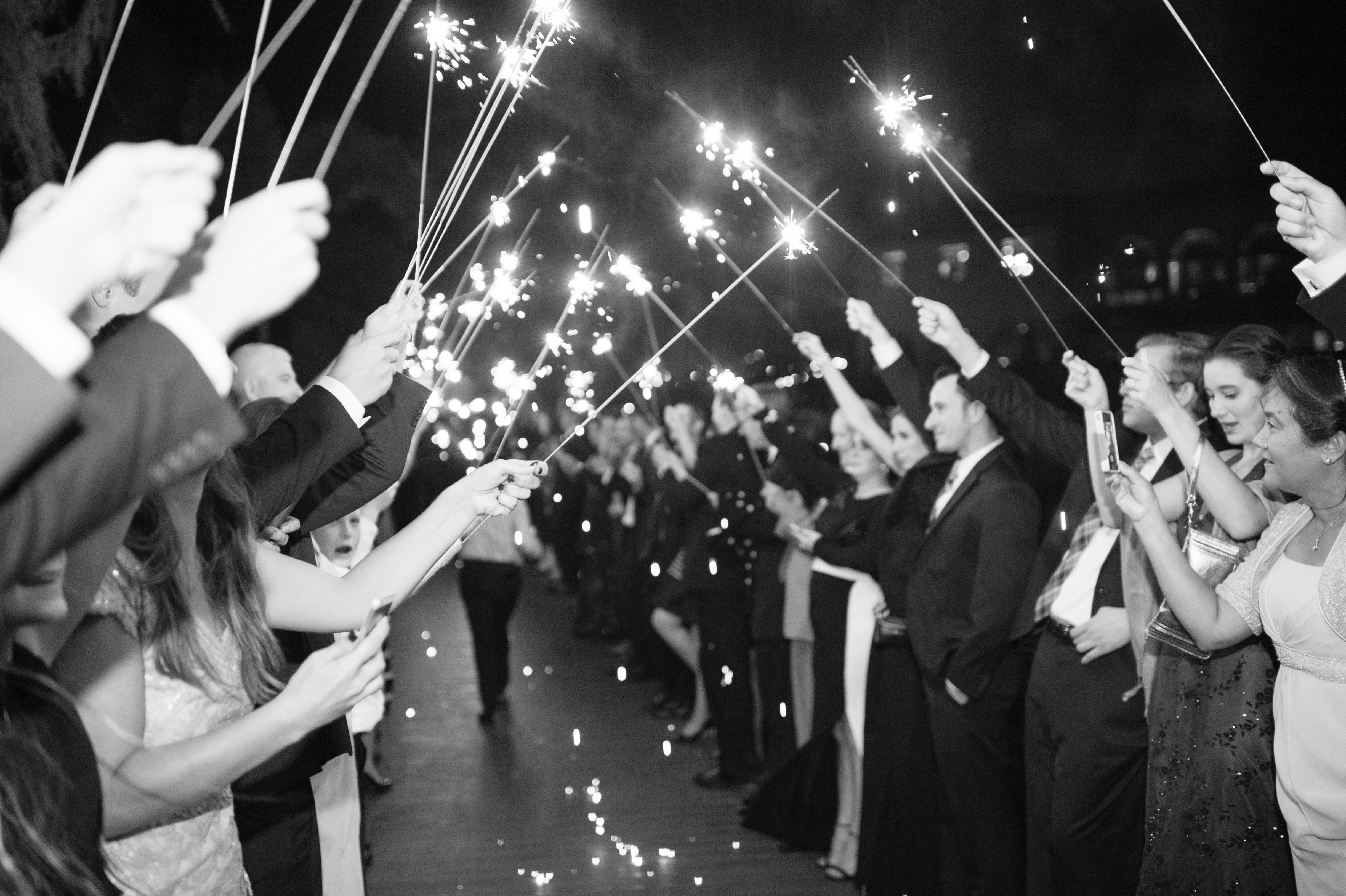 isleworth country club reception sparkler exit