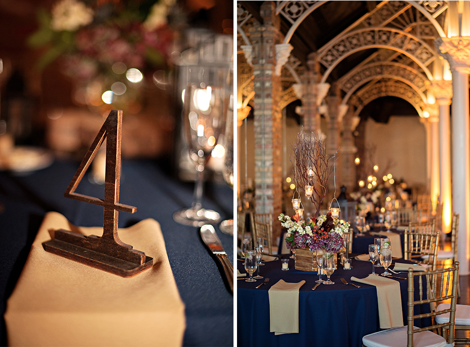 navy gold wedding details