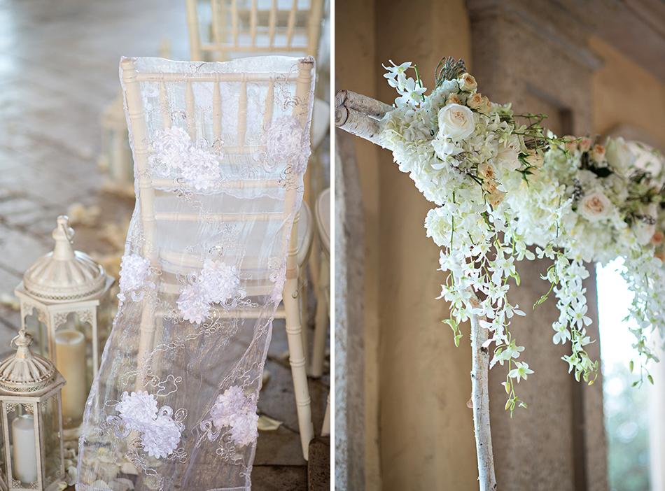 bella collina wedding ceremony details