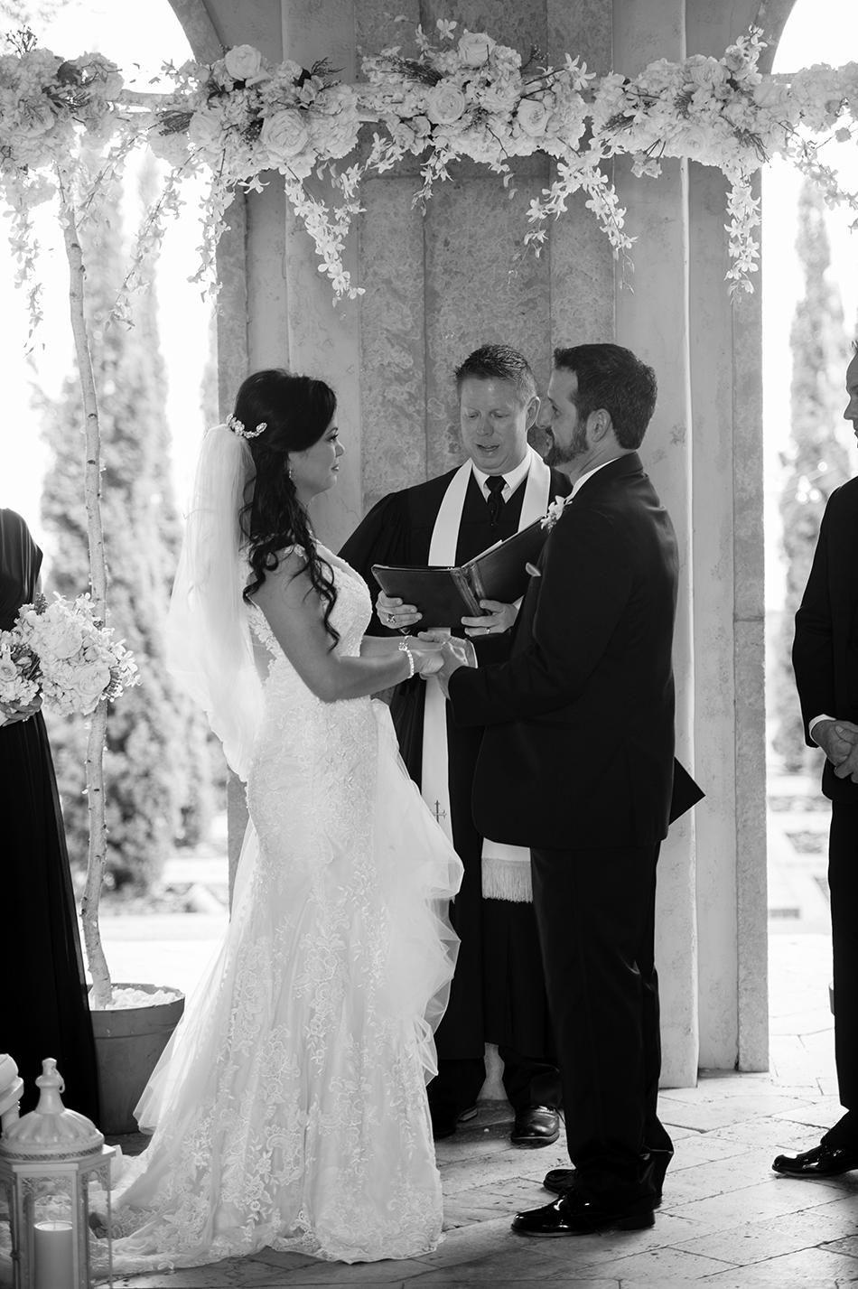 bella collina outdoor wedding ceremony