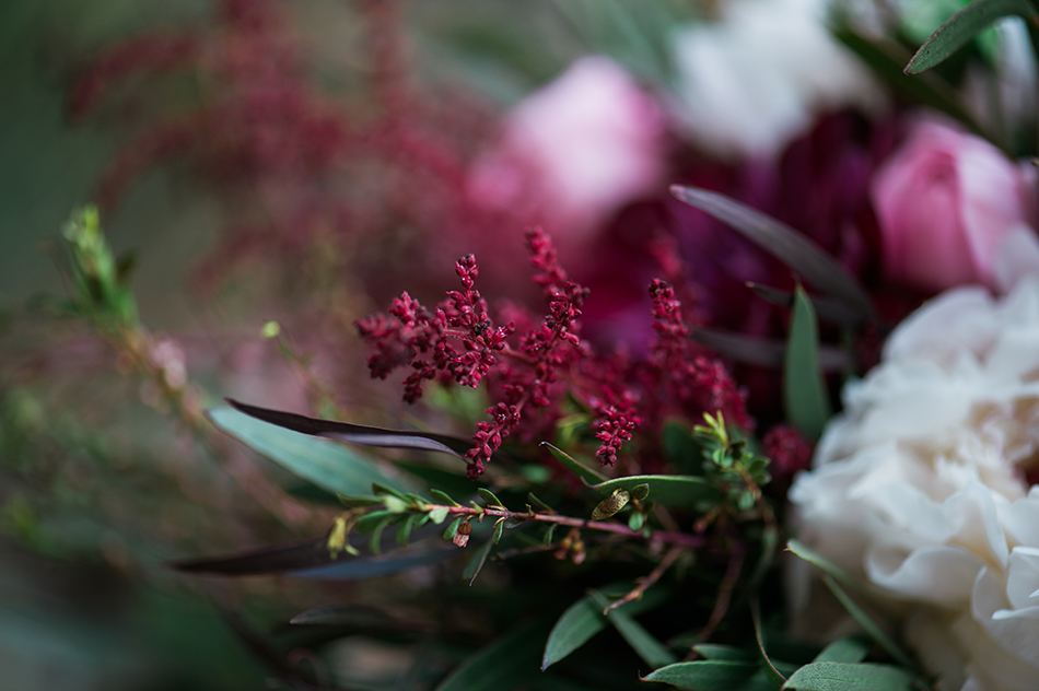 maroon wedding floral