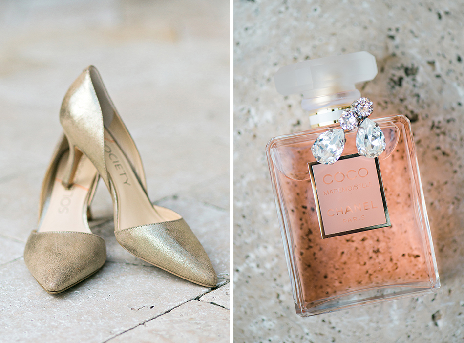 bridal details perfume shoes