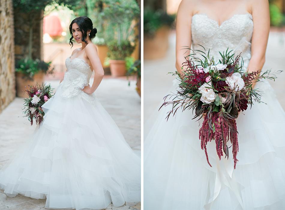blush and maroon wedding