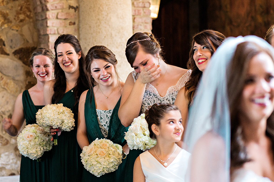 bridal party real moments