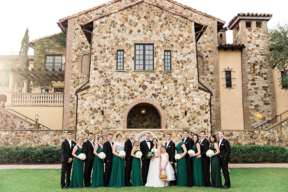 bella collina wedding party