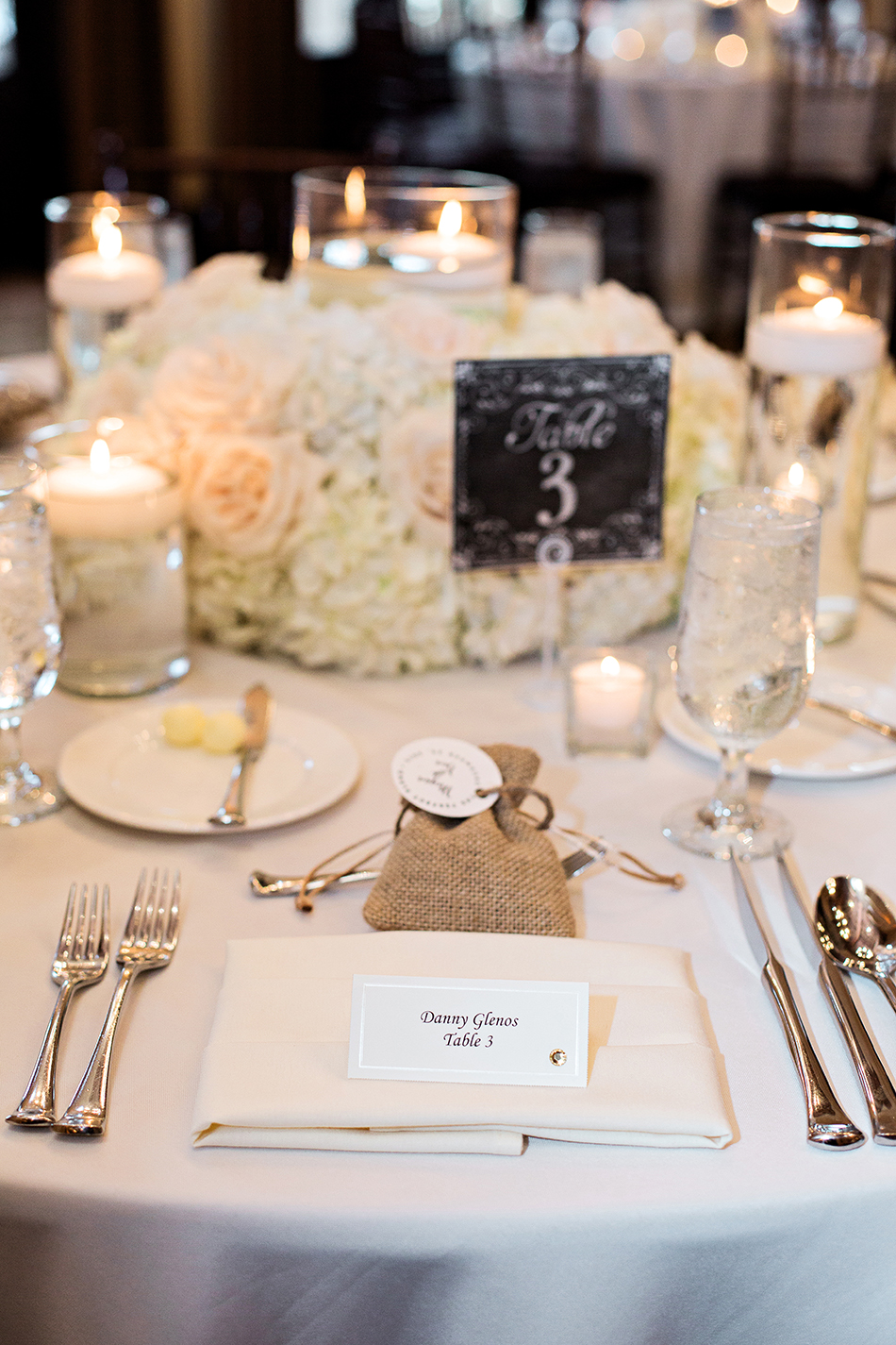 white and brown wedding reception