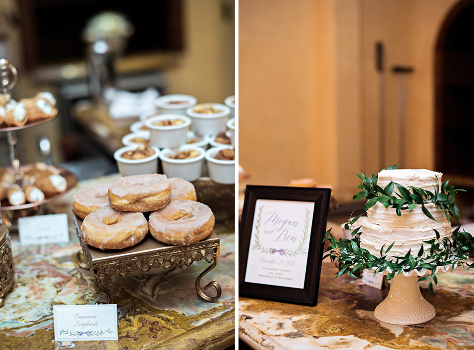 green and white wedding cake donuts