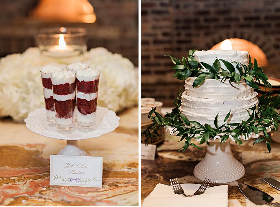 red velvet wedding dessert