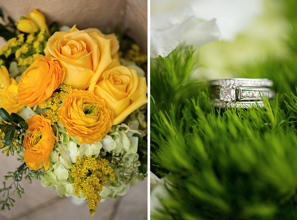 yellow gold wedding floral