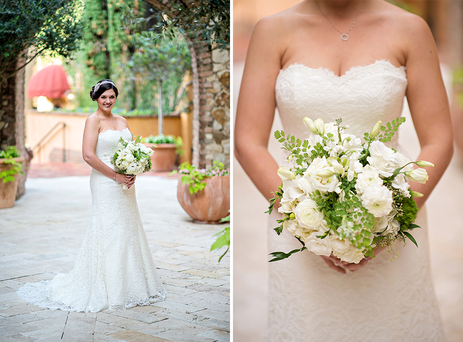 white wedding floral