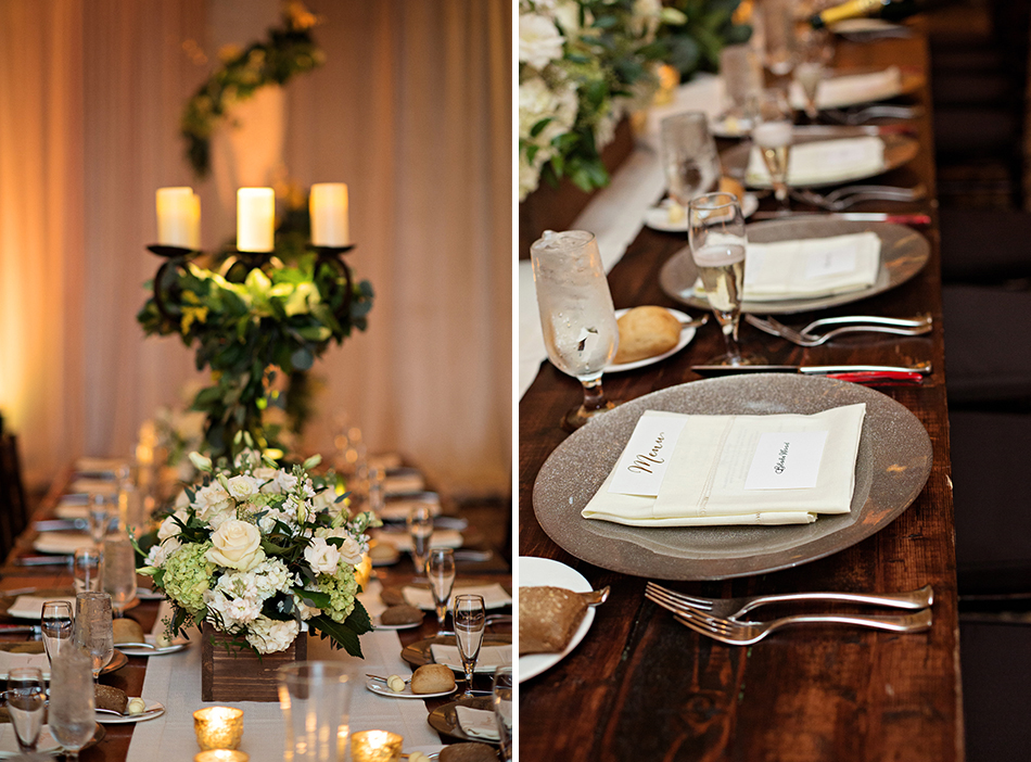 bella collina wedding reception details