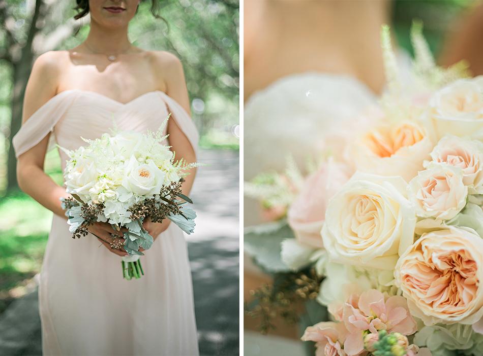 light pink white bouquet